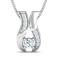 Diamond Necklace & Pendant 0.15 Ct Natural Certifed Solid Gold Festive