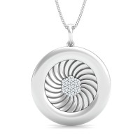 Fine Necklace & Pendant 0.14 Ct Natural Certified Diamond Office Wear