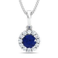 Fine Necklace & Pendant 0.12 Ct Natural Certified Diamond Solid Gold Vacation
