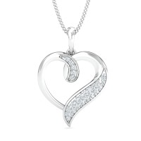 Diamond Necklace & Pendant 0.14 Ct Natural Certified Solid Gold Everyday