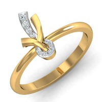 Gold Diamond Rings 0.07 Ct Natural Certified Weekend