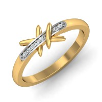 Diamond Rings For Sale 0.05 Ct Natural Certified Solid Gold Office Wear