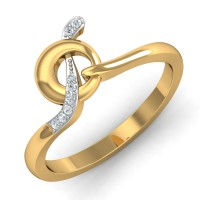 Real Diamond Rings 0.05 Ct Natural Certified Solid Gold Special Occasion