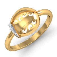Gold And Diamond Rings 0.03 Ct Natural Certified Vacation