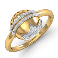 Diamond Ring Design 0.16 Ct Natural Certified Solid Gold Everyday