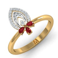 Diamond Ring Designs 0.12 Ct Natural Certified Solid Gold Special Occasion