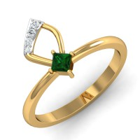 Diamond Ring Design 0.05 Ct Natural Certified Solid Gold Office Wear
