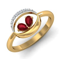 Gold Rings For Women 0.07 Ct Natural Certified Diamond Weekend