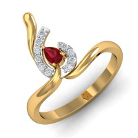 Diamond Ring Designs 0.13 Ct Natural Certified Solid Gold Special Occasion