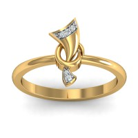 Diamond Gold Ring 0.03 Ct Natural Certified Vacation