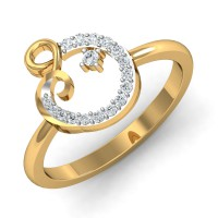 Diamond Ring Design 0.15 Ct Natural Certified Solid Gold Office Wear