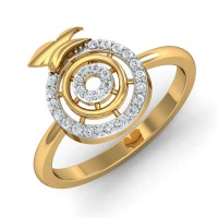 Gold Rings For Women 0.16 Ct Natural Certified Diamond Weekend