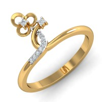 Diamond Rings For Sale 0.07 Ct Natural Certified Solid Gold Festive