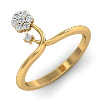Real Diamond Rings 0.15 Ct Natural Certified Solid Gold Party