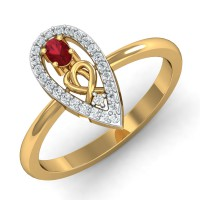 Diamond Gold Ring 0.13 Ct Natural Certified Vacation