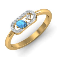 Gold And Diamond Rings 0.08 Ct Natural Certified Everyday