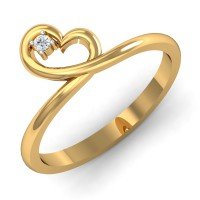 Gold Rings For Women 0.025 Ct Natural Certified Diamond Weekend