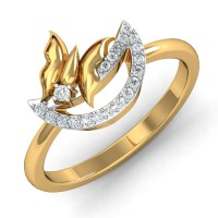 Real Diamond Rings 0.14 Ct Natural Certified Solid Gold Designer Party