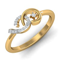 Diamond Gold Ring 0.07 Ct Natural Certified Office Wear