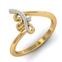 Diamond Ring Design 0.06 Ct Natural Certified Solid Gold Office Wear