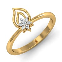 Gold Diamond Rings 0.07 Ct Natural Certified Special Occasion