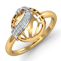 Diamond Rings For Sale 0.11 Ct Natural Certified Solid Gold Party