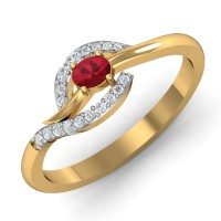 Diamond Ring Designs 0.1 Ct Natural Certified Solid Gold Workwear