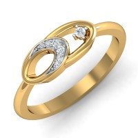 Diamond Gold Ring 0.05 Ct Natural Certified Office Wear