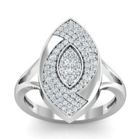 Gold And Diamond Rings 0.59 Ct Natural Certified Everyday