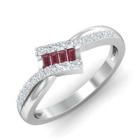 Ruby Diamond Ring 0.25 Ct Natural Certified Solid Gold Weekend