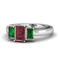 Emerald Ruby Diamond Rings Ct Natural Certified Solid Gold Everyday