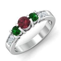 Gemstone Diamond Ring Designs 0.14 Ct Natural Certified Solid Gold Special Occasion