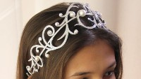14.00CT NATURAL DIAMOND 14K WHITE GOLD PEARL WEDDING ANNIVERSARY BRIDAL TIARA