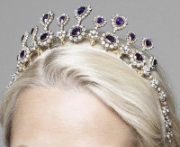 10.00ct NATURAL DIAMOND AMETHYST 14K YELLOW GOLD WEDDING ANNIVERSARY TIARA CROWN