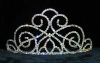 11.20CT NATURAL DIAMOND 14K WHITE GOLD WEDDING ANNIVERSARY TIARA CROWN