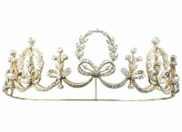 7.00CT NATURAL DIAMOND 14K YELLOW GOLD WEDDING ANNIVERSARY CROWN TIARA