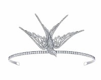 5.80CT NATURAL DIAMOND 14K WHITE GOLD WEDDING ANNIVERSARY BRIDAL TIARA
