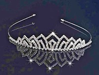 8.25ctNATURAL DIAMOND EMERALD 14K WHITE GOLD WEDING ANIVERSARY BRIDAL TIARA