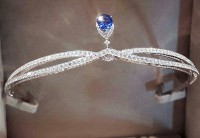 4.17ct NATURAL DIAMOND 14K WHITE GOLD WEDDING ANNIVERSARY TIARA CROWN
