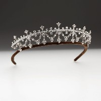 7.03ct NATURAL ROUND DIAMOND EMERALD 14K WHITE GOLD WEDDING ANNIVERSARY TIARA