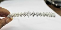 BRIDAL 4.15ct NATURAL ROUND DIAMOND 14K WHITE GOLD WEDDING ANNIVERSARY TIARA