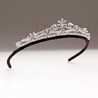 4.66ct NATURAL ROUND DIAMOND 14K WHITE GOLD WEDDING ANNIVERSARY TIARA CROWN