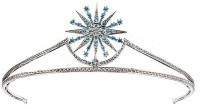 3.70cts ROSE CUT DIAMOND TOPAZ ANTIQUE VICTORIAN LOOK 925 SILVER HAIR TIARA