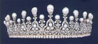 Estate 34.68ct Rose Cut Diamond Sterling Silver Victorian Women Tiara