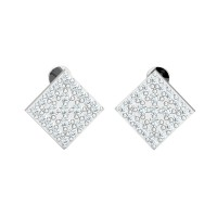 Diamond Drop Earrings 0.94ct Natural Certified Solid Gold