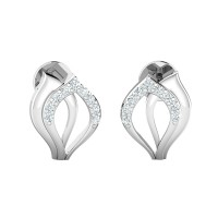 Diamond Drop Earrings 0.09ct Natural Certified Solid Gold Studs