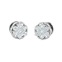 Diamond Studs 0.17ct Natural Certified Solid Gold Designer Earrings