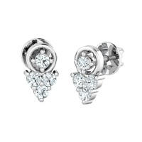Diamond Earrings for Women 0.14ct Natural Certified Solid Gold Studs