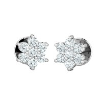 Diamond Drop Earrings 0.21ct Natural Certified Solid Gold Studs