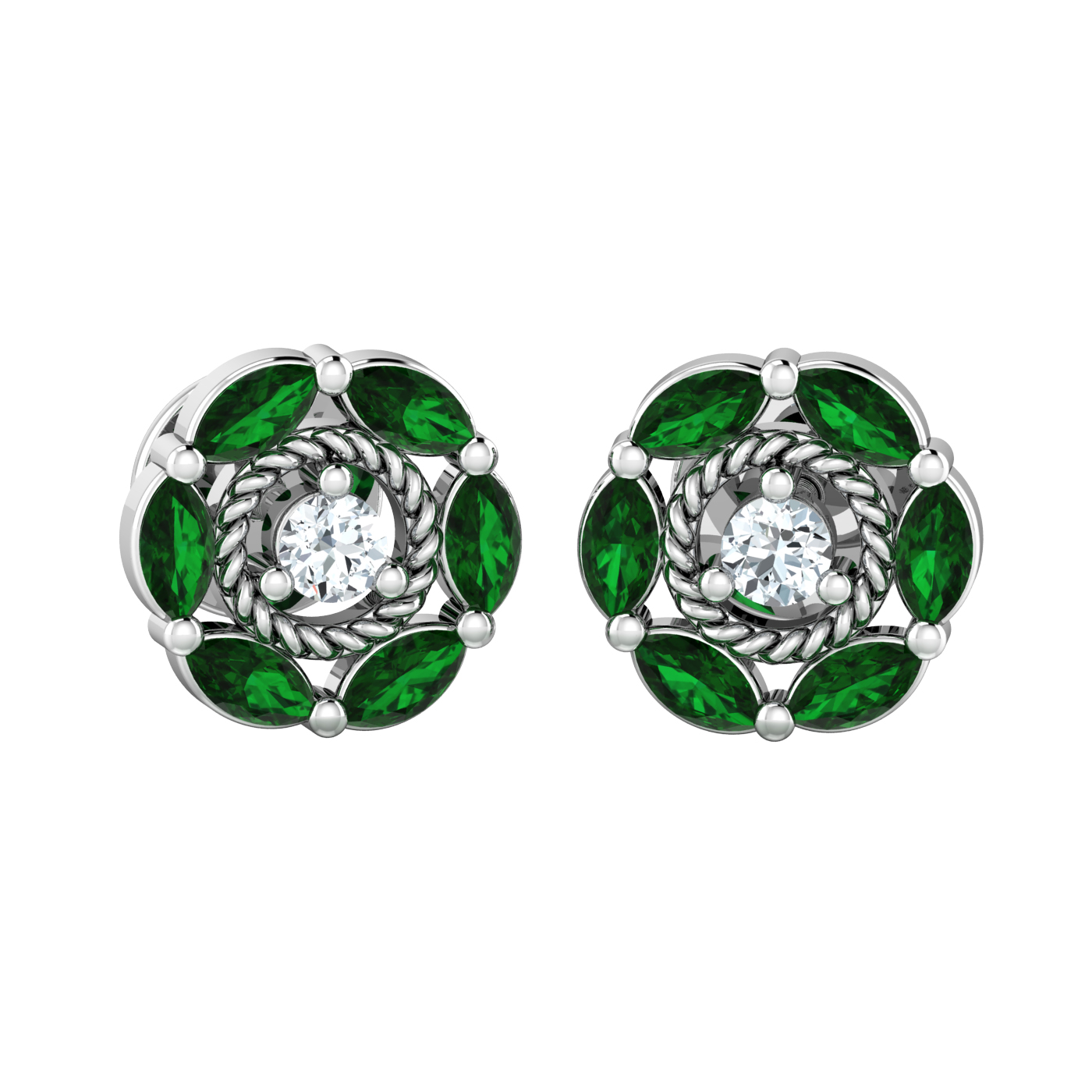 colombian handmade jewelry omega large livemaster emerald colombia item natural earrings buy